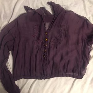 1920s Vintage Chiffon Blouse *AS IS*